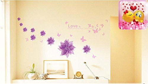 Amaonm Nursery Flowers Erfly Wall Decals Quotes Stickers Murals L Stick Wallpaper For Kids S Room Bedroom Living Tv Background