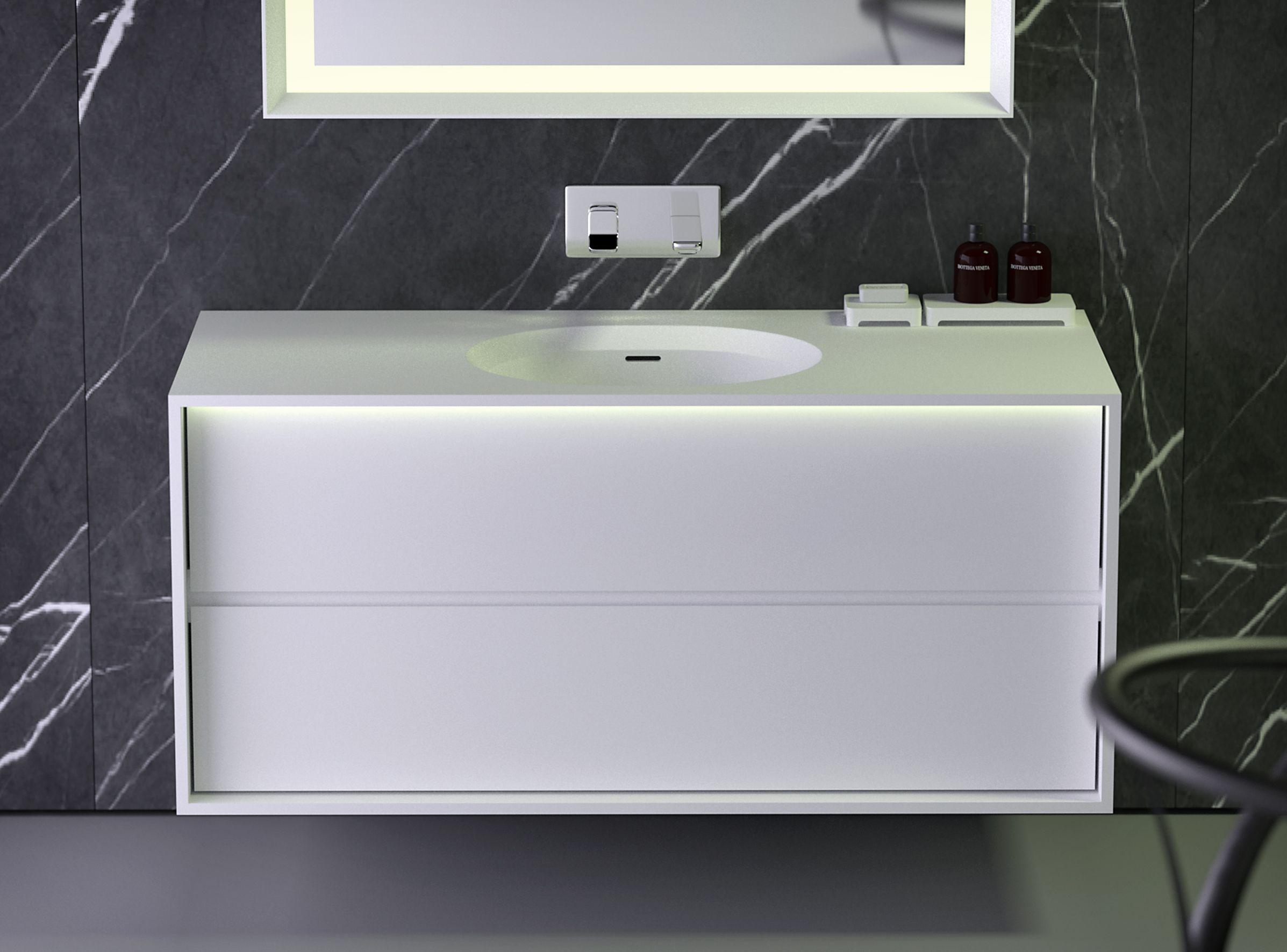 Interior bathroom modern bathroom basins - Knief K Stone Collection Strip Flush Mounted Wash Basin And Wall Hung Cabinet With Drawers Modern Bathrooms Interiorbathroom