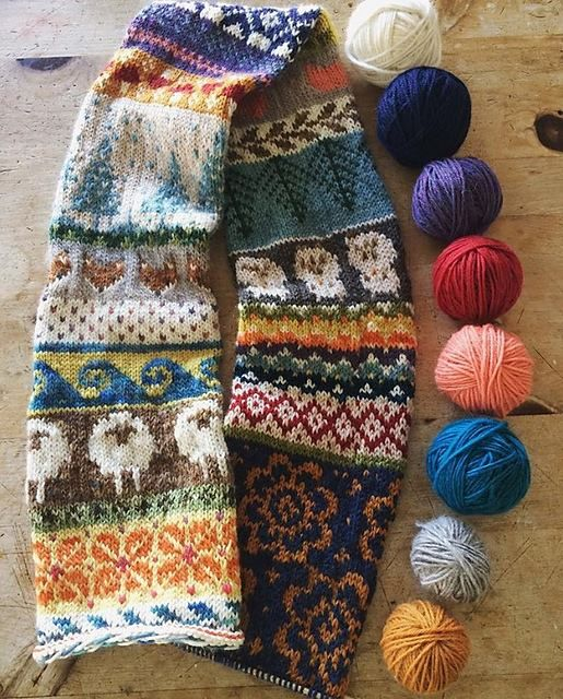 Free Pattern: \'My Favourite Things\' Infinity Scarf by Jill McGee on ...