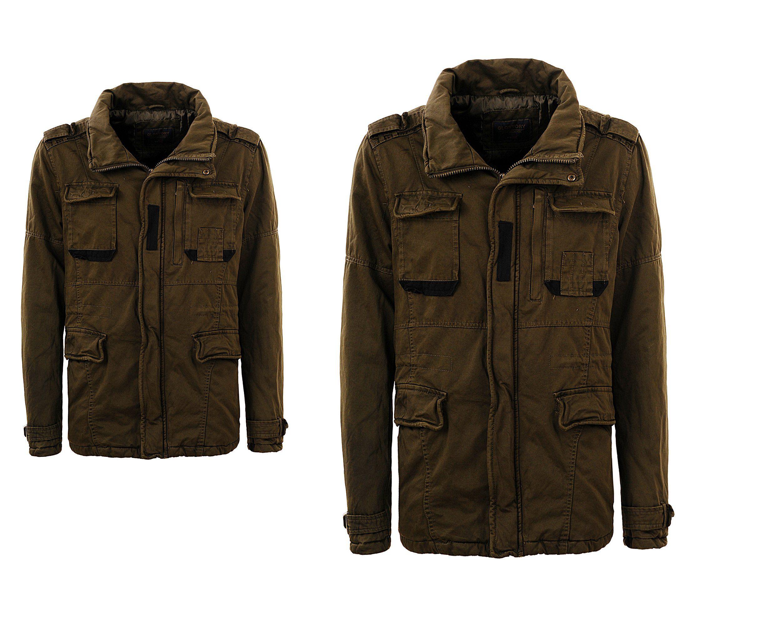 Kurtka Meska Parka Khaki Ze Stojka Jesienna Xxl 6986818285 Oficjalne Archiwum Allegro Military Jacket Jackets Fashion