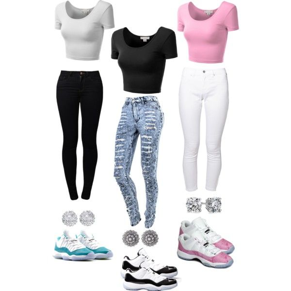 5eedffe4522cdf crop tops with skinny jeans and jordans - Google Search