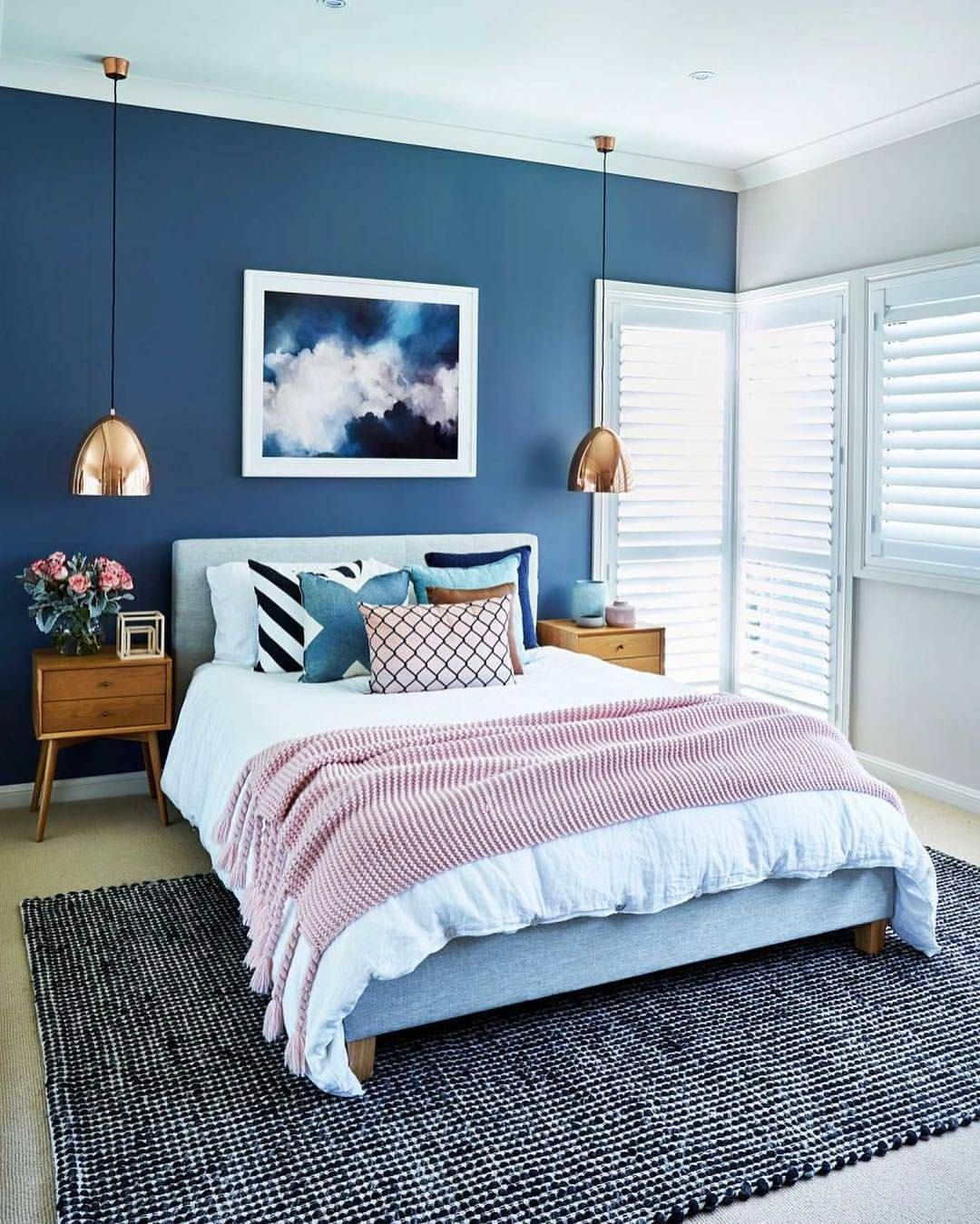 Bright And Bold Guest Bedroom: We Spy Our 'Mid-Century Bedside' Tables In This Bold
