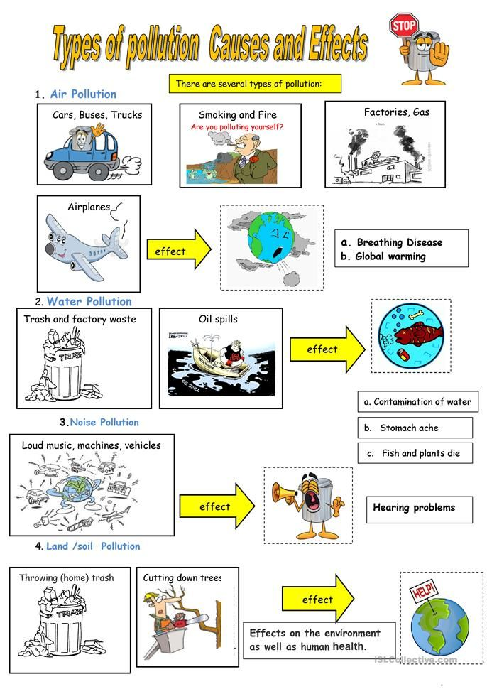 6 Types Of Pollution Pollution Lesson Pollution Air Pollution