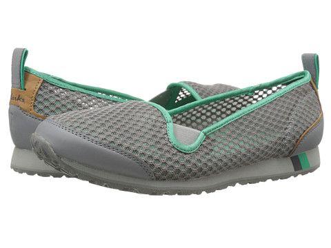 Womens Shoes Clarks Incast Pump Grey Mesh/Pink