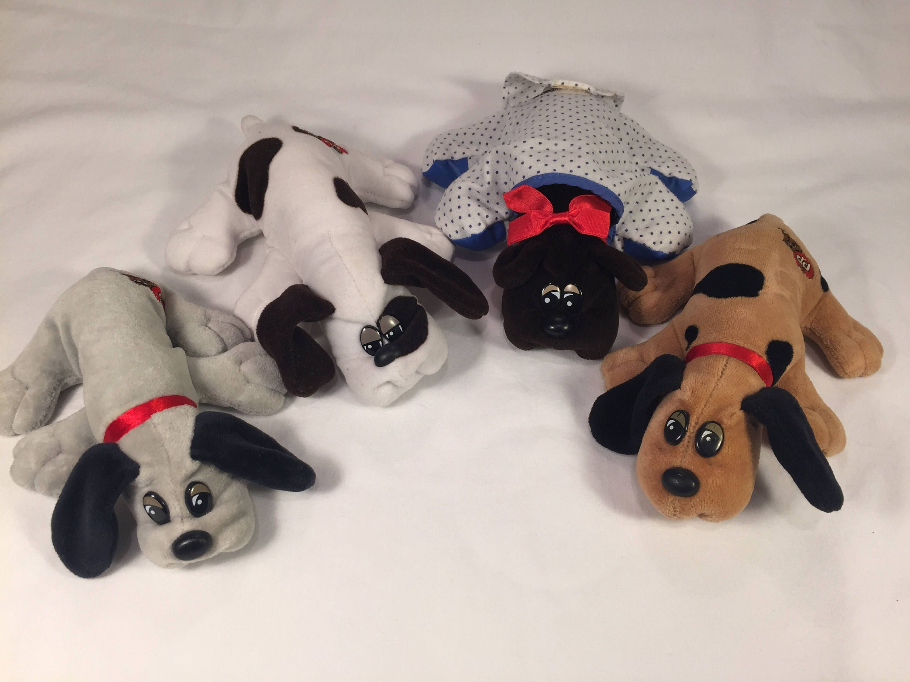 Pound Puppies Newborns Lot Vintage 1980s Plush Pound Puppies