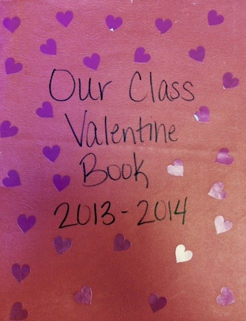 How to make a class valentine book. Great idea to use all the valentines from your students!