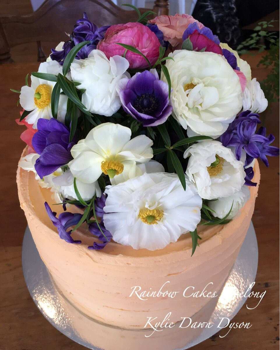 Www.facebook.com/rainbow.cake.sales.geelong Flowers Cake
