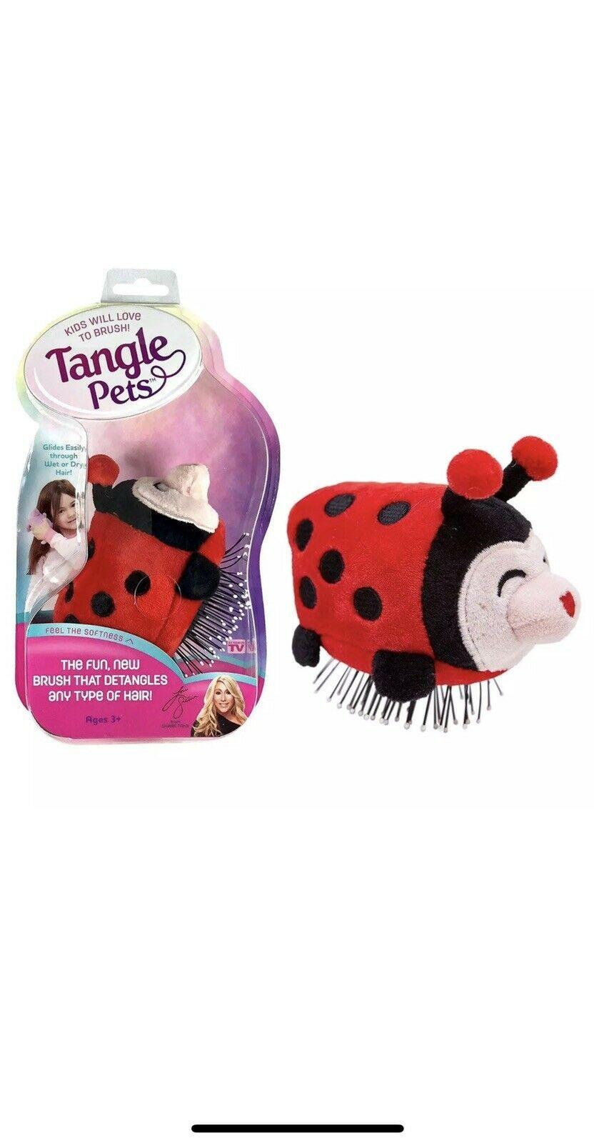 Tangle Pets Hair Brush As Seen On Shark Tank Lizzy Lady Bug