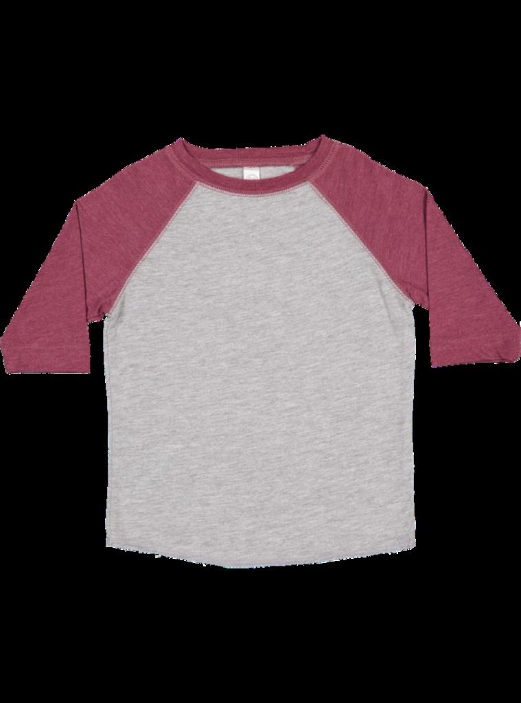 2773cd561 LAT Apparel Rabbit Skins Toddler Fine Jersey Crew Neck Raglan 3/4 Sleeve  Baseball Tee #ToddlerFashion #ToddlerApparel #Tshirt #Baseball #FanGear  #TeamWear ...