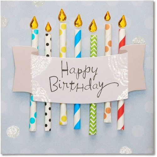 American Greetings Candles Birthday Card With Rhinestones Party