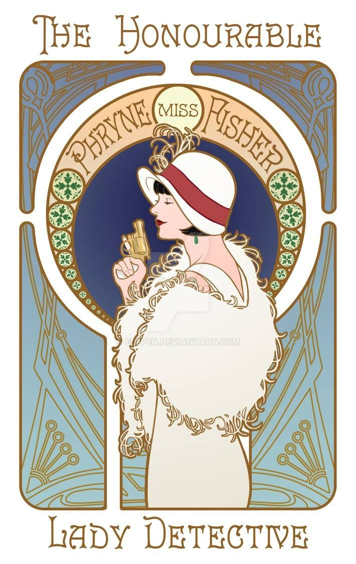 The Honourable Miss Phryne Fisher, Lady Detective by Elfpen on DeviantArt