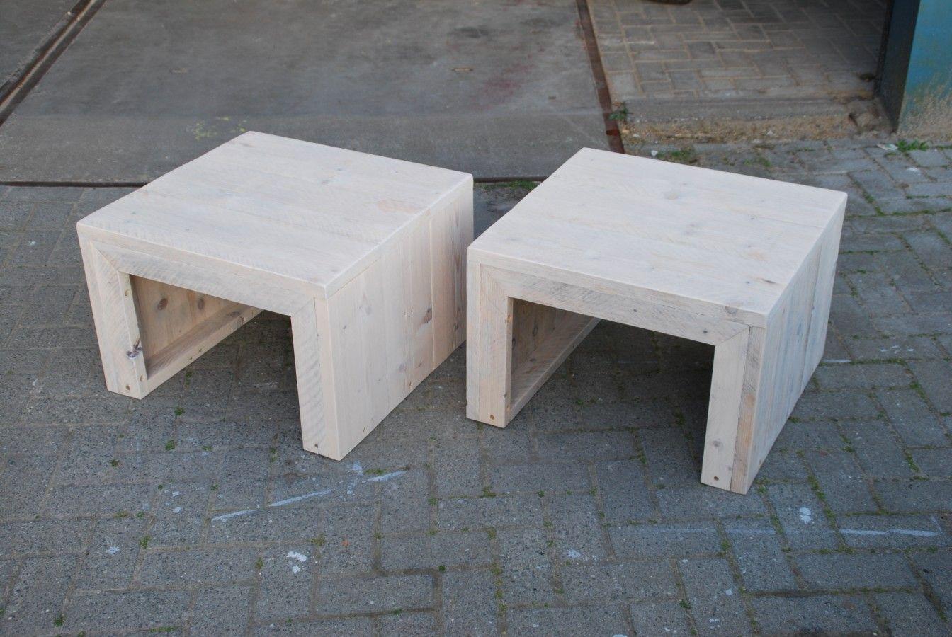 Salontafel van steigerhout type alabama robuuste steigerhouten