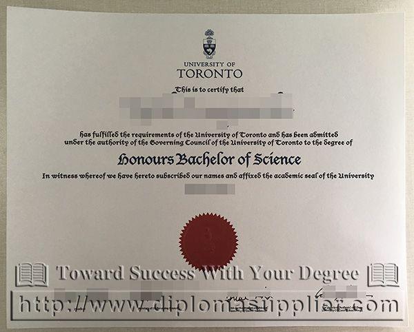 University of Toronto diploma, University of Toronto certificate ...