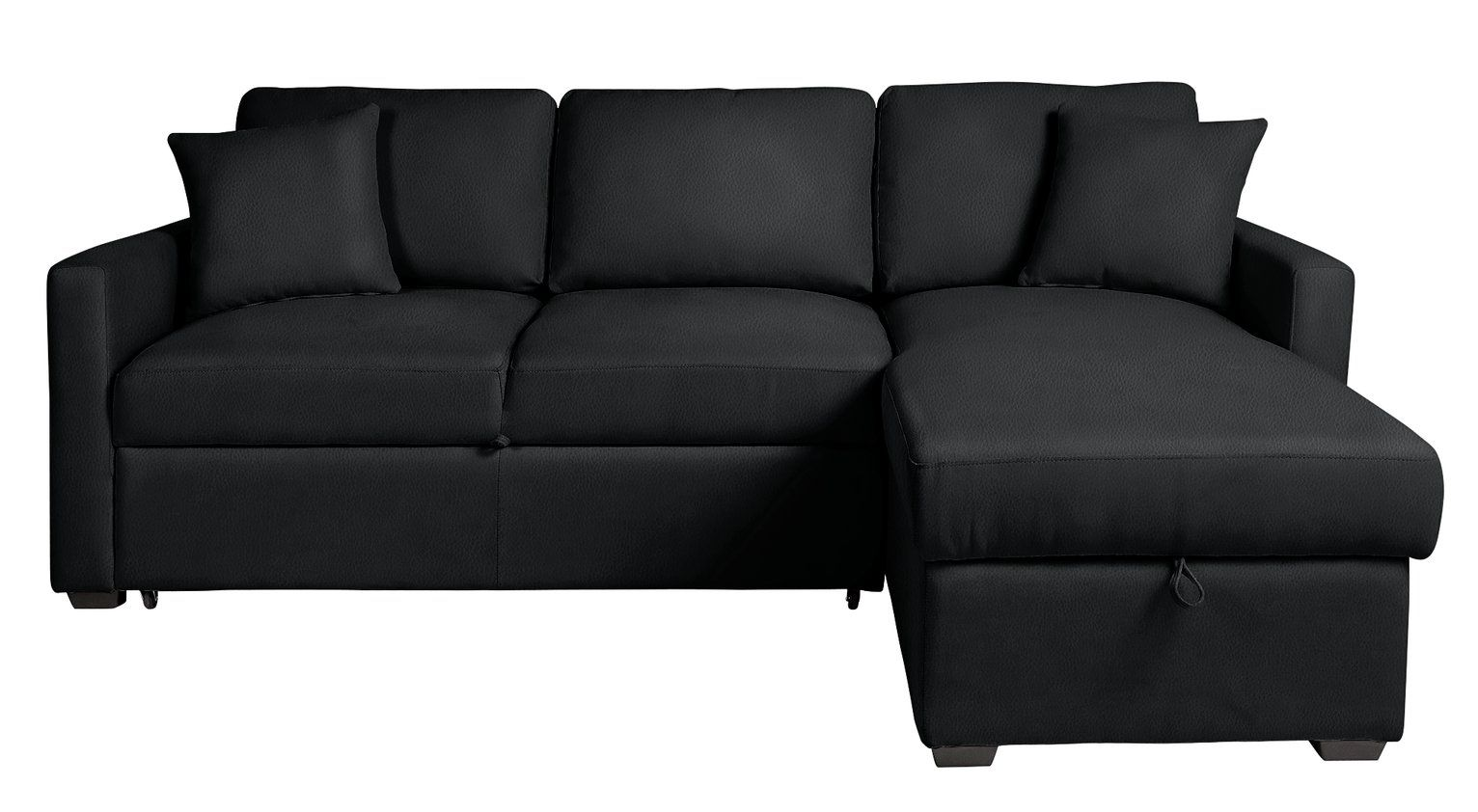 Argos Home Reagan Right Corner Faux Leather Sofa Bed Black In 2020 Faux Leather Sofa Leather Sofa Bed Sofa Bed Black