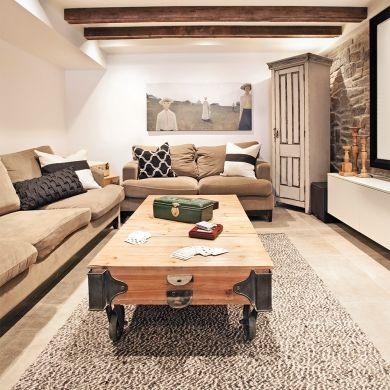 Sous-sol: parfait espace cocooning! - Sous-sol - Inspirations ...