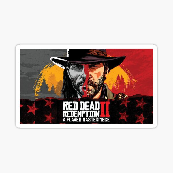 Red Dead Redemption 2 Game Cover Rdr2 Cover Game Sticker By D Emperorlight Redbubble Red Dead Redemption Red Dead Redemption Ii Redemption