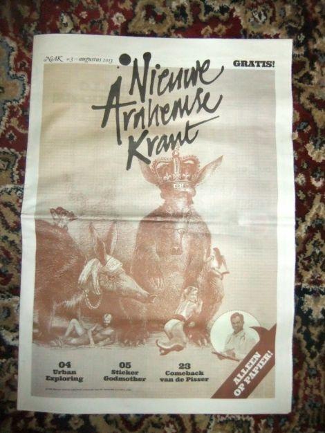Nieuwe Arnhemse krant - uitgebracht door Martijn