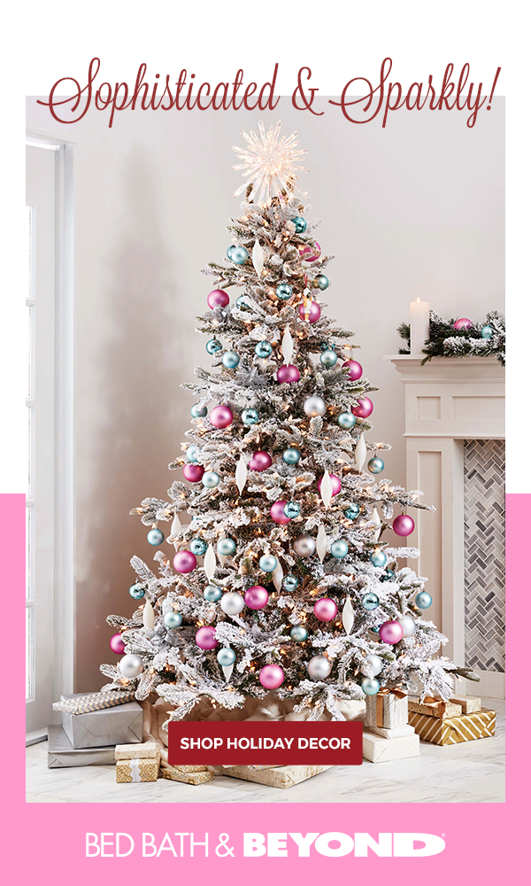 For A Tree That S Both Classy And Whimsical We Love This Blue And Pink Combination It S Playful And Welcoming Meaning Pink Christmas Tree Christmas Holiday