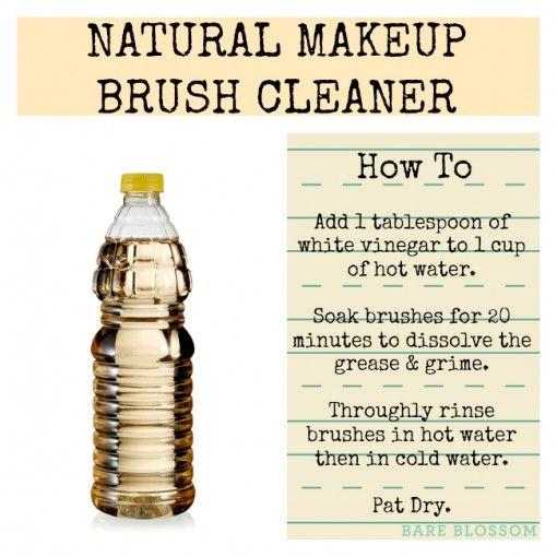 Diy Makeup Brush Cleaner 1 Tbls White Vinegar In 1 Cup Hot Water