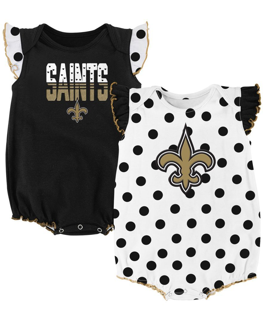 6d0b07f4 Outerstuff Babies' New Orleans Saints Polka Fan 2 Piece Creeper Set ...