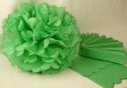 "Tissue Paper Pom Poms 16"" Pistachio Green Pack of 4 (Save 41%)"