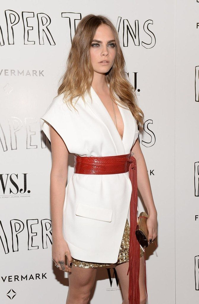 Cara Delevingne in Alexandre Vauthier Fall 2015 Haute Couture – 'Paper Towns' Screening in West Hollywood #AlexandreVauthier