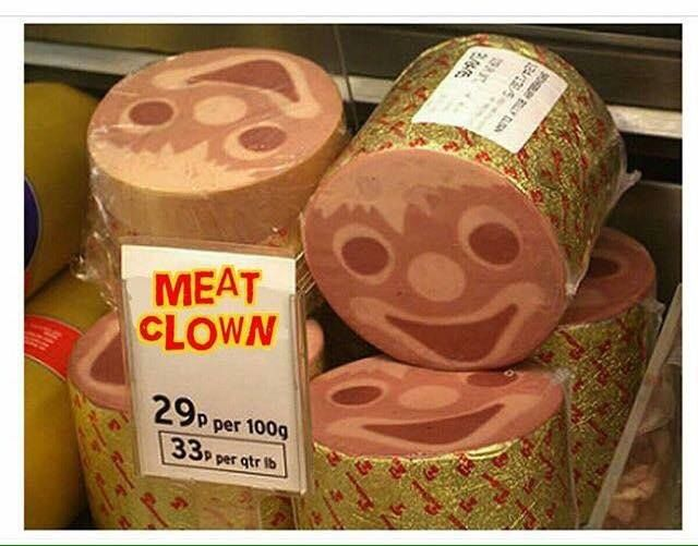 Meat Clown Bologna   Funny relatable memes, Funny pictures, Stupid funny  memes