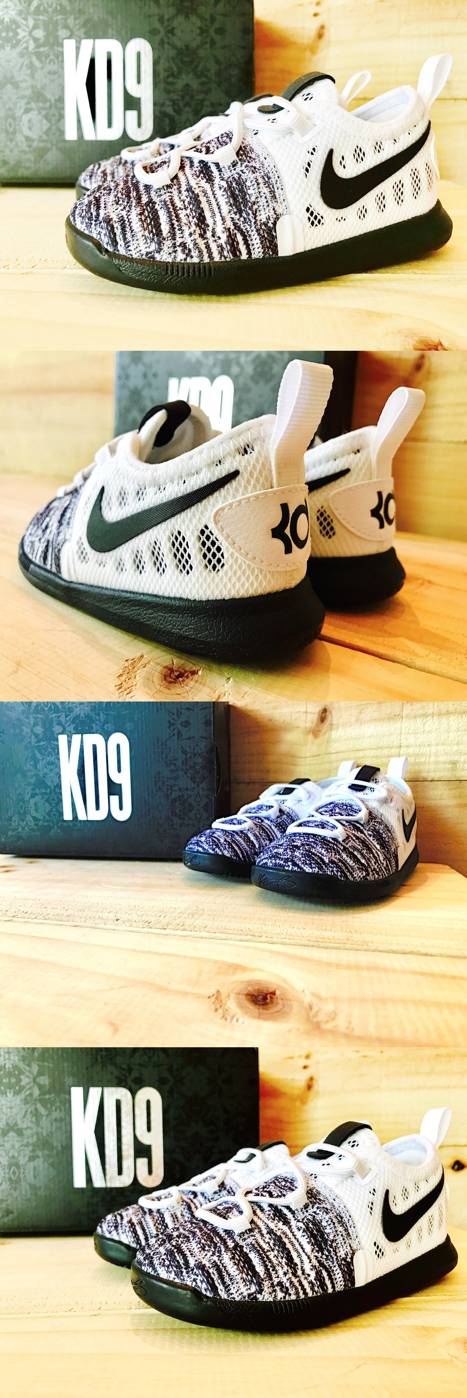 977d6868e88 ... release date baby shoes 147285 nike kd 9 oreo flyknit durant black  white toddler boys kids