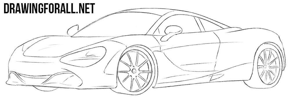 How To Draw A Mclaren 720s Car Drawings Cartoon Car Drawing