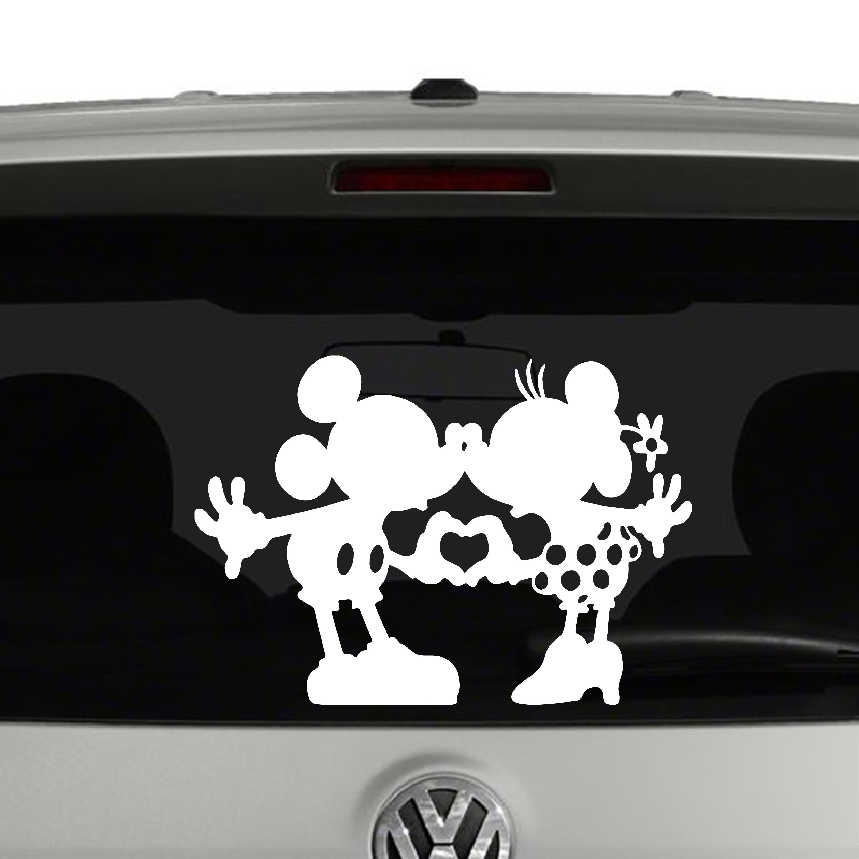 Mickey And Minnie Mouse Heart Hands Nose Kissing Vinyl Decal Sticker Car Window Cosmic Frogs Vinyl Vinyl Decals Vinyl Decal Stickers Decal Wall Art [ 3334 x 3334 Pixel ]