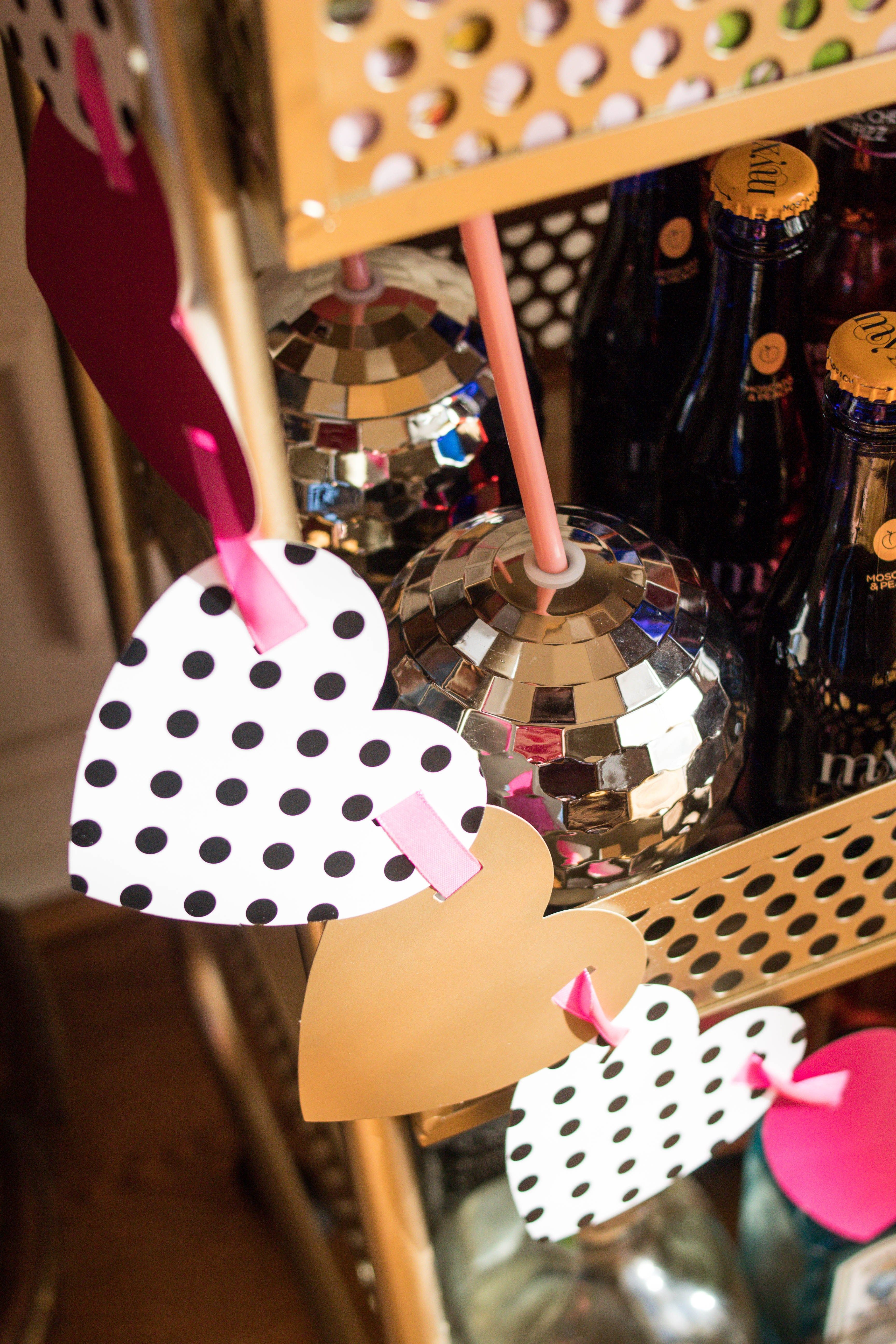How to Decorate a Bar Cart for Galentine's Day with ...