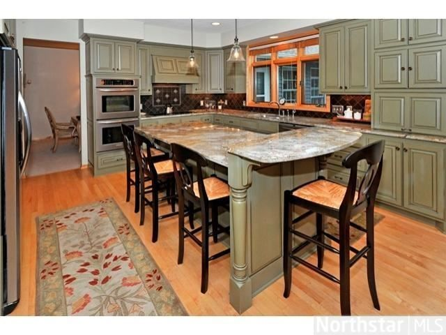 Green Distressed Kitchen Cabinets, Kitchen Cabinets Plymouth Mn