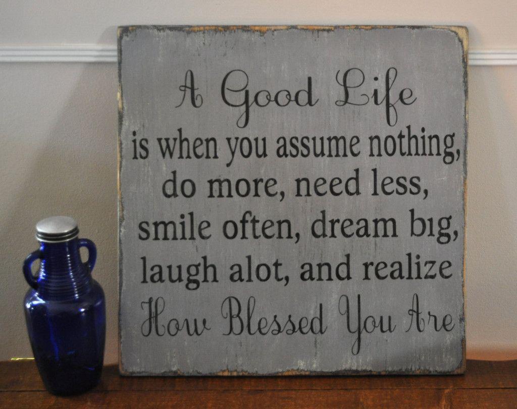 Family signs living room kitchen decor wall art a good life