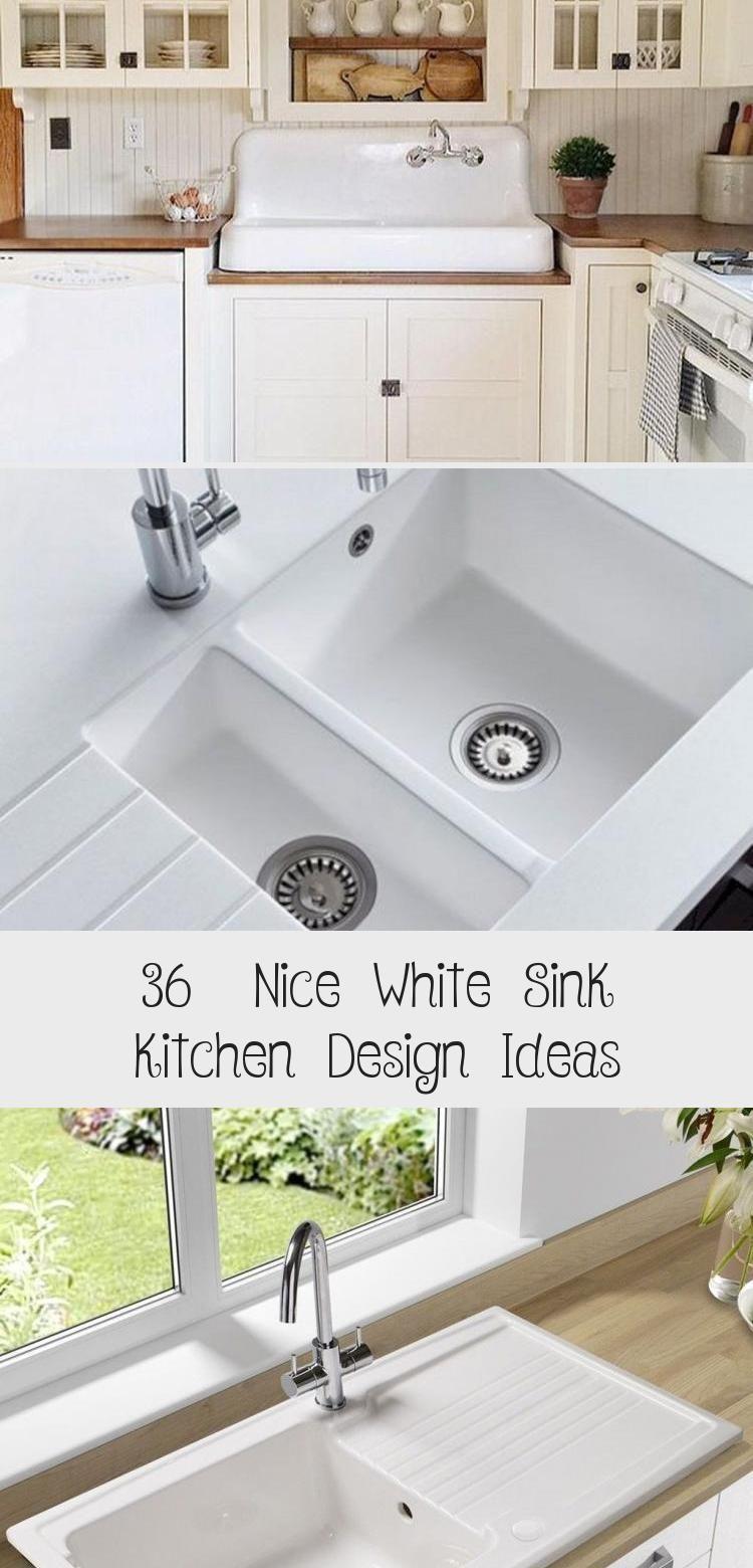 9 Nice White Sink Kitchen Design Ideas   White kitchen sink ...