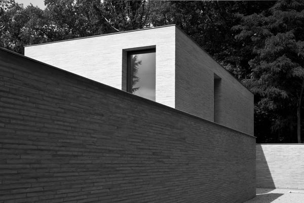 architecture ,residence design via Vincent van duysen ,exterior tile decoration .
