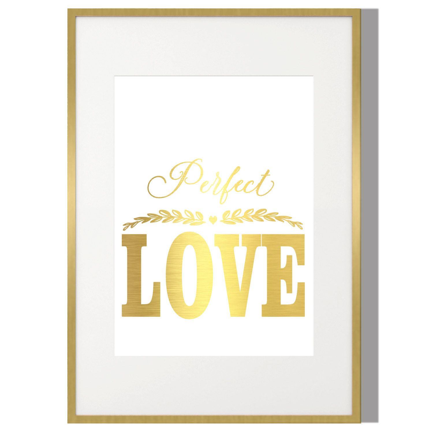 Gold Print,Perfect Love Print,Poster Wall Art,Typography Print ...