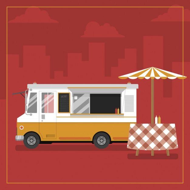 Download Food Truck Background Design For Free Food Truck Food Banner Pizza Food Truck