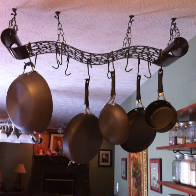 Inexpensive metal wall art purchased at Gordman\'s turned into a pot ...