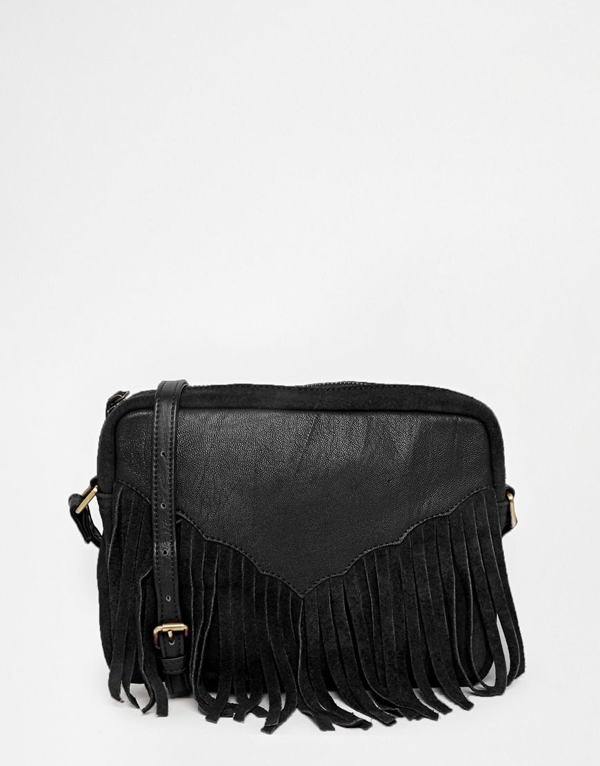 edd2e1db7 ASOS Western Tassel Suede And Leather Cross Body Bag | Accessories ...