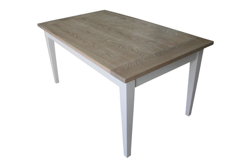 Handcrafted Lime Washed Oak Dining Table Custom Made Hand Painted Dining Table Table Oak Dining Table