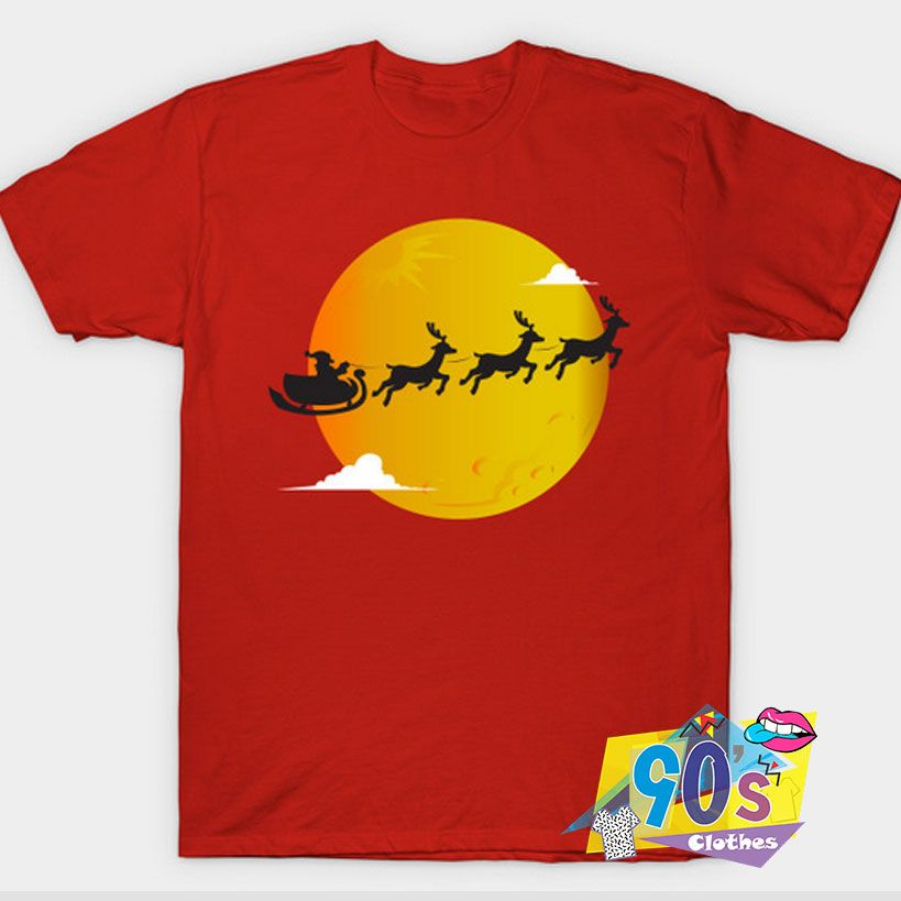 New Happy Christmas Day With Santa T Shirt #decadedayoutfits