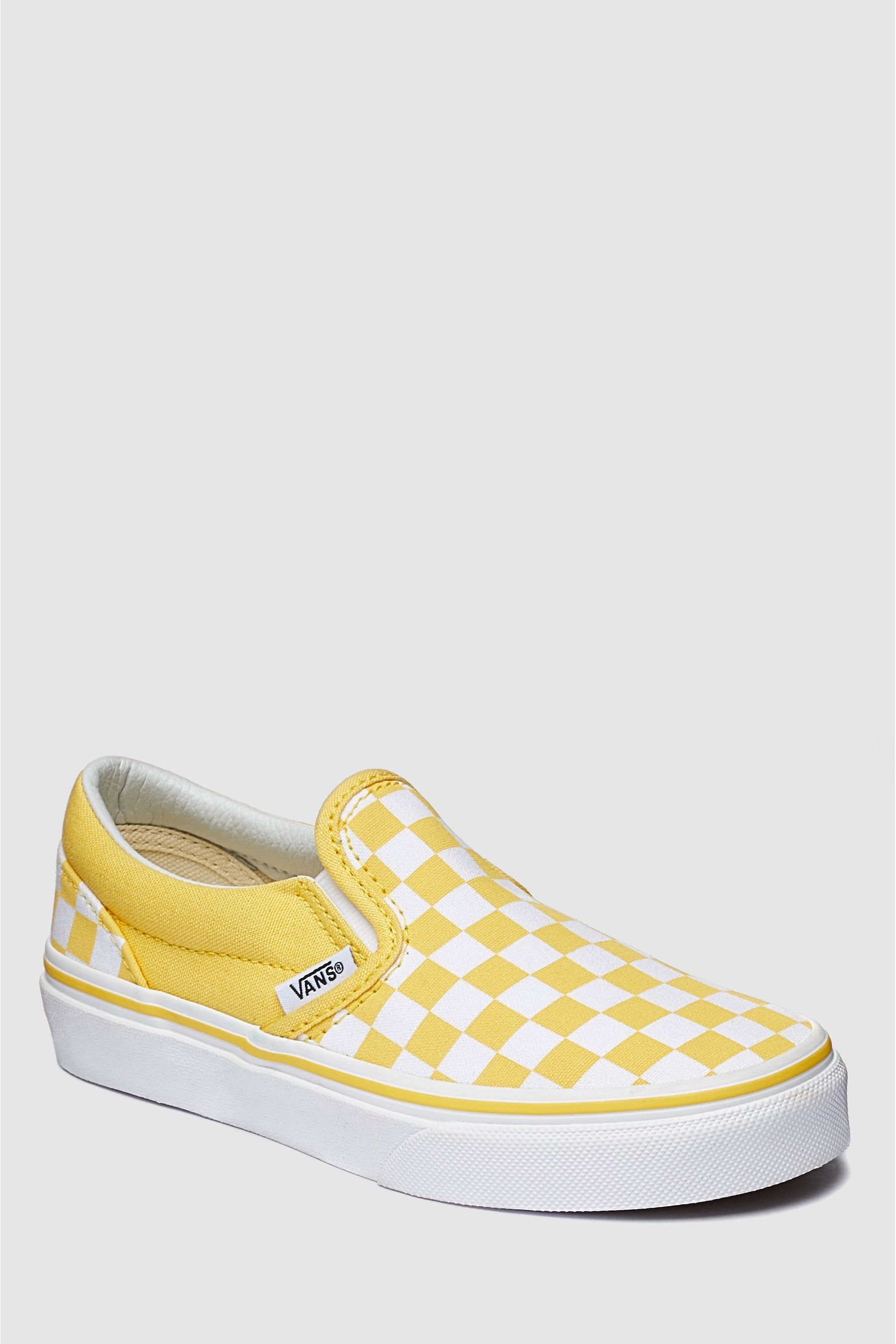 Boys Vans Yellow Check Slip-On Youth
