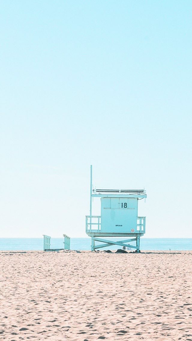Matt Crump photography Pastel iPhone wallpaper Santa Monica beach L.A. from instagram.com