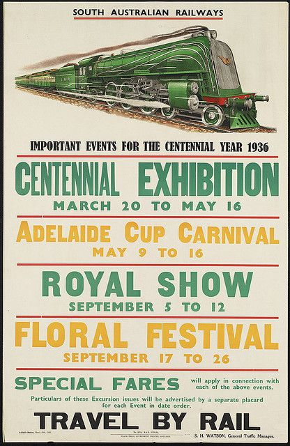Travel by rail. Important events for the centennial year 1936 | Flickr - Photo Sharing!