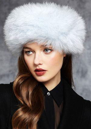SURELL Fox Fur Scarf Head Wrap  483834604d47