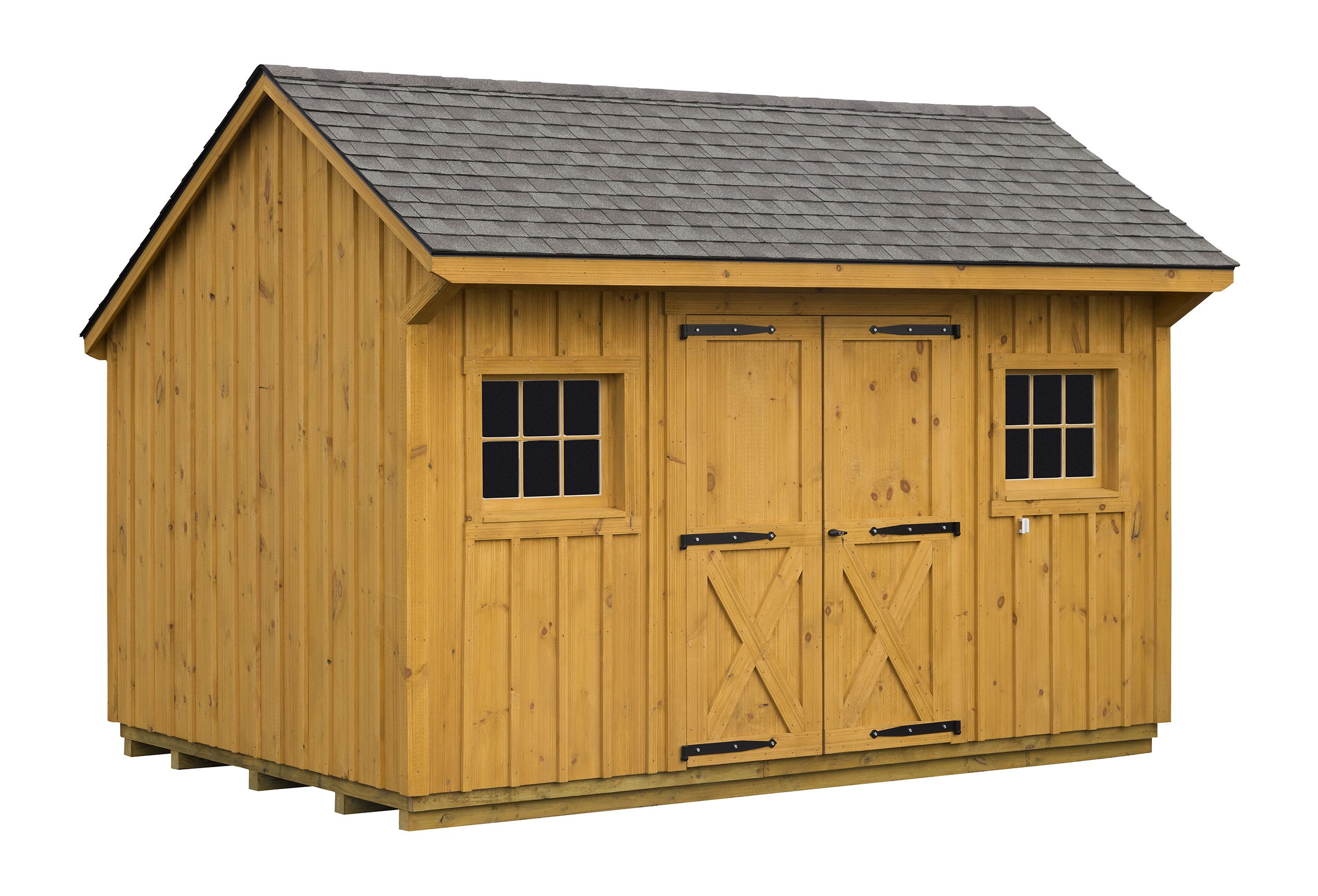 Horizon structures 10x14 pine board and batten backyard for Board and batten shed plans