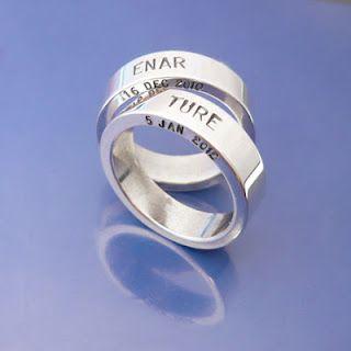 #Namnringar i silver. #Namerings, handmade