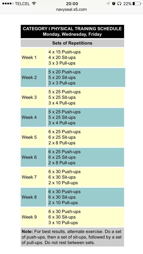 Navy Seal Workout Routine Chart : workout, routine, chart, Ariana, Pinterest, Likes, Workout,, Workout, Routine,