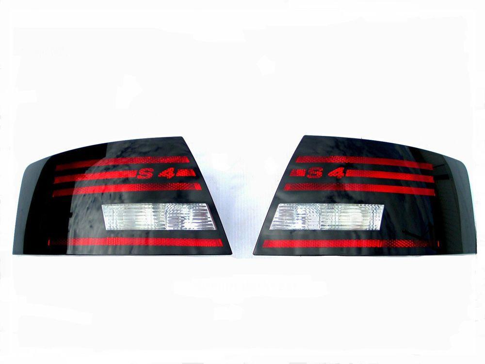 genuine hella audi s4 a4 b6 cabrio black tail lights 03. Black Bedroom Furniture Sets. Home Design Ideas