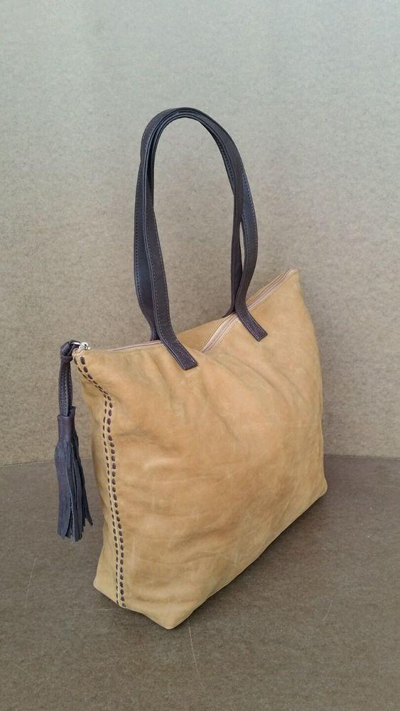 768fcbfc1446 Suede camel leather tote bag - large shopper purse - handmade handbag lily   Fgalaze  TotesShoppers